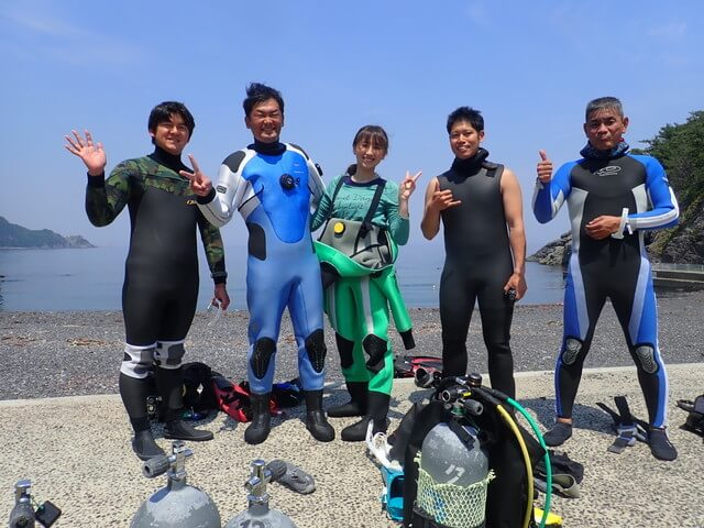 青海島ダイビング