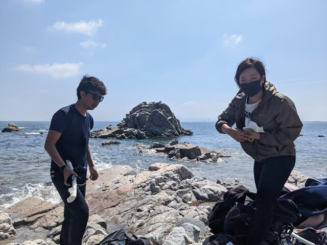 ダイブショップサンライズ 志賀島でダイビング
